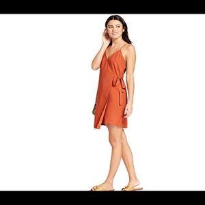 Mossimo rust wrap dress